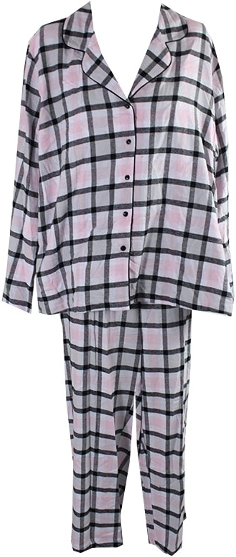 Alfani Women's Printed Flannel Pajama Set
