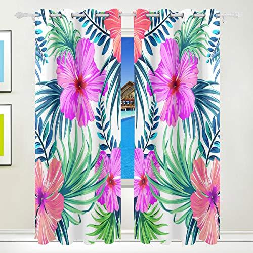 cortinas salon flores tropical