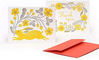 Masako Kubo Letterpressed Notecards (Letterpress Greeting Cards, Thank You Note)