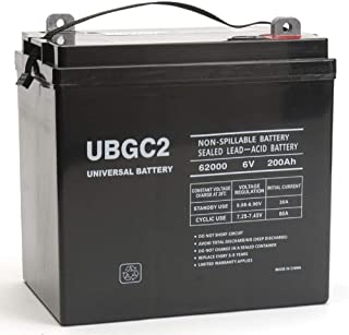 Universal Power Group UBGC2 Sealed AGM Deep Cycle 6V 200AH Battery Golf Cart RV Boat Camper Solar