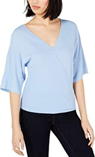 Bar III Women's Back Cutout Sweater, Air Blue, X-Large