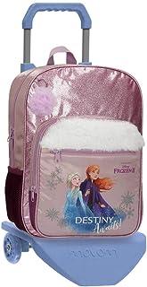 Disney Frozen Die Eiskönigin Destiny awaits Rucksack mit Trolley Violett 28,5x38x12 cms Polyester 15.36L