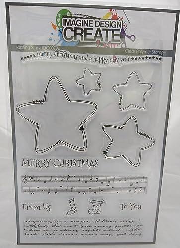 Nesting Stars A5 Stamp Set by Imagine Design Create