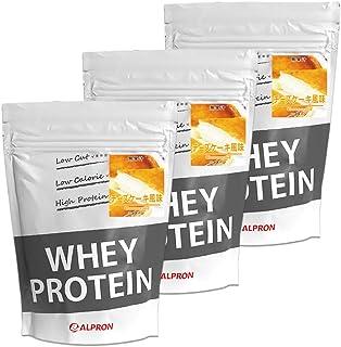 ALPRON(アルプロン) ホエイプロテイン100 チーズケーキ風味 (1kg×3個セット / 約150食分) タンパク質 ダイエット 粉末ドリンク [ 低脂肪/低カロリー ]