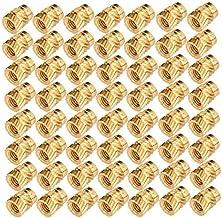 Varadyle 100Pcs M3 Thread Knurled Brass Threaded Heat Set Heat Resistant Insert Embedment Nut for 3D Printer