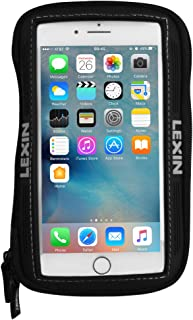 LEXIN MTB03 Big Size Black Super Cool Motorcycle Gas Fuel Tank Bag, Magnetic Phone Case Fits iPhone 11, 11 Pro, X, XR, 8, 8 Plus, 7, 7 Plus, Galaxy S10+, S9, S8