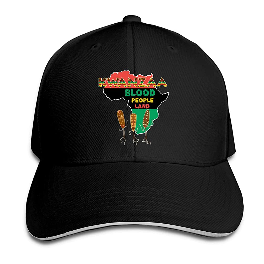 ZZFfoushionB Unisex Hats Printed with African Kwanzaa Blood People Land Casual Style Casquette