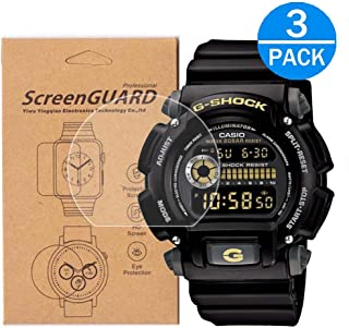[3-Pack] for Casio DW-9052 Screen Protector,Full Coverage HD Clear Anti-Bubble and Anti-Scratch for DW-9052 /DW9052 /DW9052-2/DW9052-1V /DW9052-1BCG
