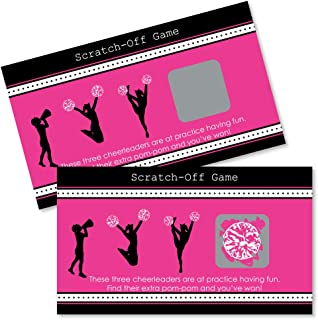 Big Dot of Happiness We've Got Spirit - Cheerleading - Birthday Party or Cheerleader Party Game Scratch Off Cards - 22 Count