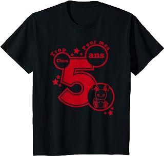 Enfant cadeau anniversaire 5 ans humour - trop chou pour mes 5 ans T-Shirt