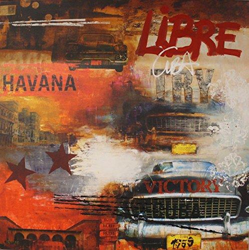 Galeriebilder KOMBI KUNSTDRUCK & ORIGINAL MALEREI HAVANNA CUBA LIBRE 100x100cm auf LEINWAND
