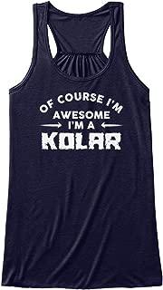 Awesome kolar Family Name t Shirt Tank Top - Bella+Canvas Women's Flowy Tank