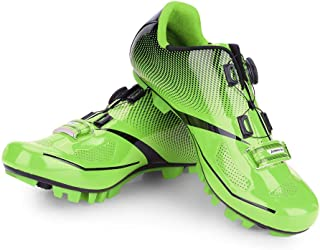 Zapatillas de Ciclismo de Bicicleta de Montaña de Carretera,1 Par Calzado de Ciclismo de Bicicleta MTB Respirable Antideslizante Sistema Compatibilidad Calzado para Mujer Hombre Adulto