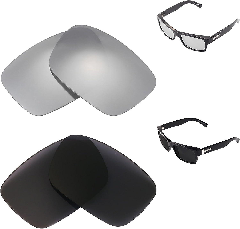 Walleva Polarized Titanium Max 60% OFF + Black Lenses VonZip For Replacement Regular discount