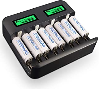 XINGWEI C Cell Rechargeable Batteries 6 Pack 4000mAh 1.2V Ni-Mh C Size Battery with Charger