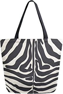 WIHVE Gym Duffel Bag Giraffe Skin Sports Lightweight Canvas Travel Luggage Bag