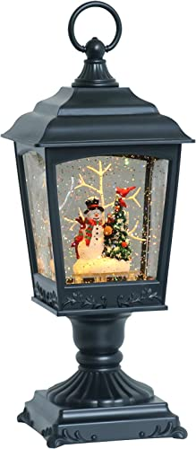 high quality Eldnacele Christmas new arrival Musical Snow Globe Lantern Snowman with 6H Timer, USB/Battery Operated Lighted Water Glittering Lantern for Adults and Kids high quality Christmas Table Centerpiece Decoration outlet sale
