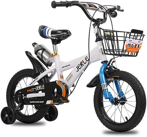 tomamos a los clientes como nuestro dios Bicicletas para Niños, bebé de 14 16 18 Pulgadas Pulgadas Pulgadas bebé 2-3-4-6-10 años de Edad Cochecito de bebé Bicicleta (Color   blanco azul, Tamaño   14 Inches)  las mejores marcas venden barato