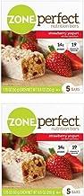Zone Perfect Nutrition Bars Strawberry Yogurt 1.76oz 5 Bars (2 Pack)
