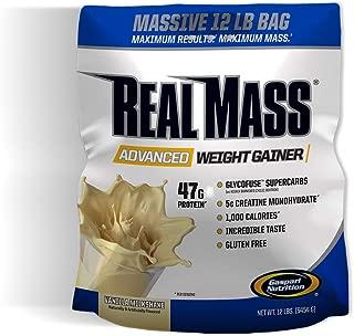 Gaspari Nutrition Real Mass Advanced Weight Gainer, Vanilla Milkshake, 12 Pound