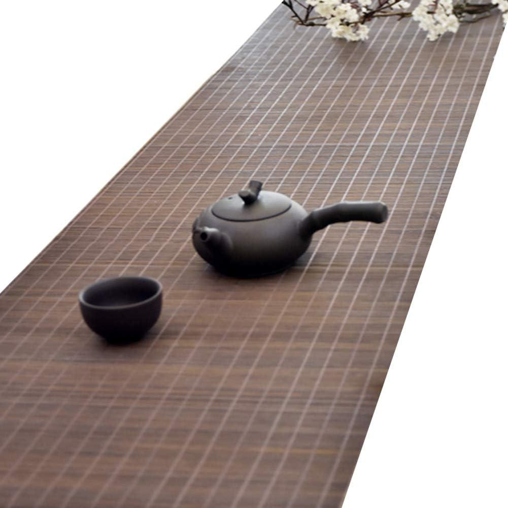 JLXJ Bamboo Table Popular Runners Brown Anti Long-awaited Slip Handmade Traditional