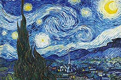 1000 Pieces Puzzles, Jigsaw Puzzles-Starry Night, Educational Intellectual Decompressing Fun Game for Kids Adults Toy 16.73 in x 11.81 in