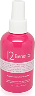 12 Benefits Instant Healthy Hair Treatment for Unisex, 6 Ounce