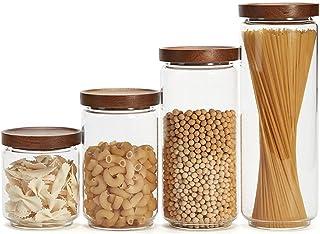 WCN Conteneurs de Stockage de Nourriture hermétique Verre Verre Verre Cuisine Organisation de céréales pour Sugar Snack (Q...