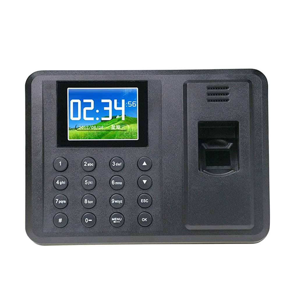 インスタンス強調する行くYobangSecurity 指紋認証 タイムカード本体 USBサポート 2.8
