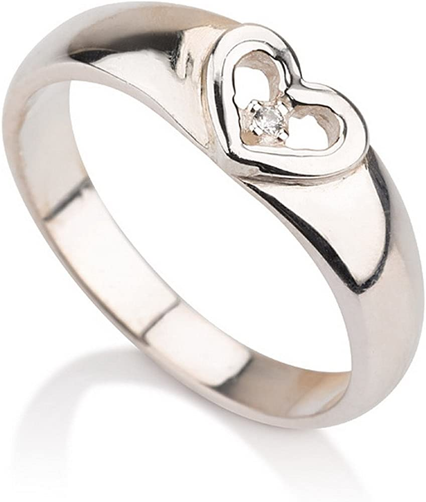 Heart In a popularity Ring Promise Cheap bargain in -Availa Silver Sterling Couple's
