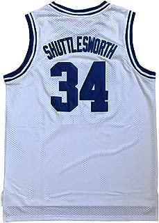 BOROLIN Jesus Shuttlesworth Shirts 34 Lincoln High School Basketball Jersey