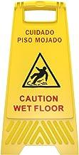 Señalamiento de piso mojado color amarillo tipo tijera