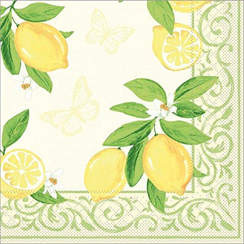 Sovie HORECA Serviette Nancy | Tissue-Servietten 40x40 cm | saugstarke und hochwertige Einweg-Servietten | ideal für & Feiern im Frühling & Sommer | 100 Stück | Creme