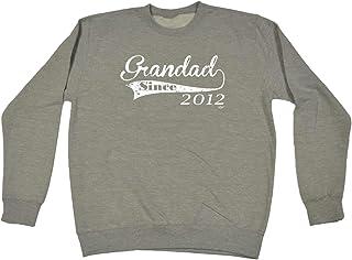 123t Funny Novelty Funny Sweatshirt - 2012 Grandad Since - Sweater Jumper