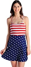 Tipsy Elves Women's Patriotic American Flag Dress - USA Red, White and Blue Dress