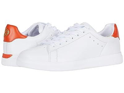 Tory Burch Valley Forge Sneaker (Titanium White/Varsity Orange) Women