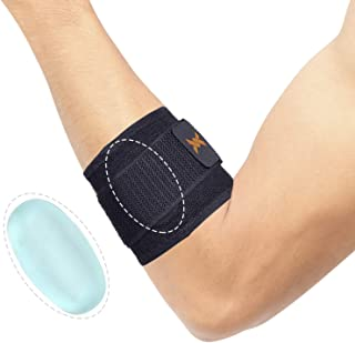 Thx4 Copper Infused Adjustable Compression Tennis and Golfers Elbow Support Brace, with Pad for Muscle and Joint Pain Relief, Tendinitis, Carpal Tunnel Syndrome …