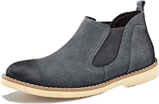 14372345b4 Men s Casual Fashion Suede Chelsea Ankle Boot Classic Comfortable  Breathable Slip-on Ankle Boot