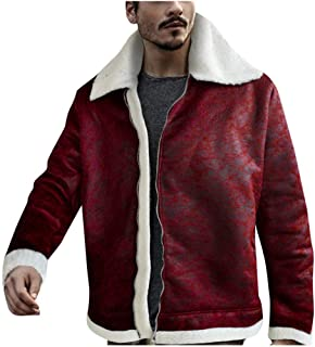 Orfilaly Mens Jacket Slim-Fit Casual Faux Leather Cotton Biker Motorbike Coats Fashion Gray Size S//M//L//XL//2XL