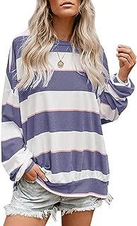 NANTE Top Loose Women's Blouse Oversized Striped Tunics Shirts Pullover Sweatshirt Womens Tops Shirt Ladies Costume Clothing