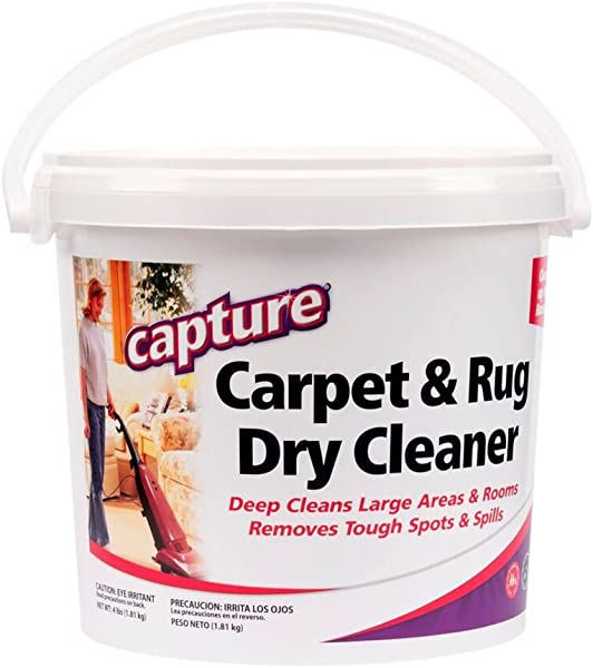 Capture Carpet Dry Cleaner Powder 4 Pound Resolve Allergens Smell Moisture From Rug Furniture Clothes And Fabric Mold Pet Stains Odor Smoke And Allergies Too