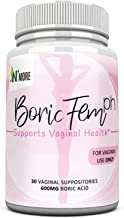Boric Acid Vaginal Suppositories - 30 Count, 600mg (Recommended Dosage) - 100% Pure Made in USA