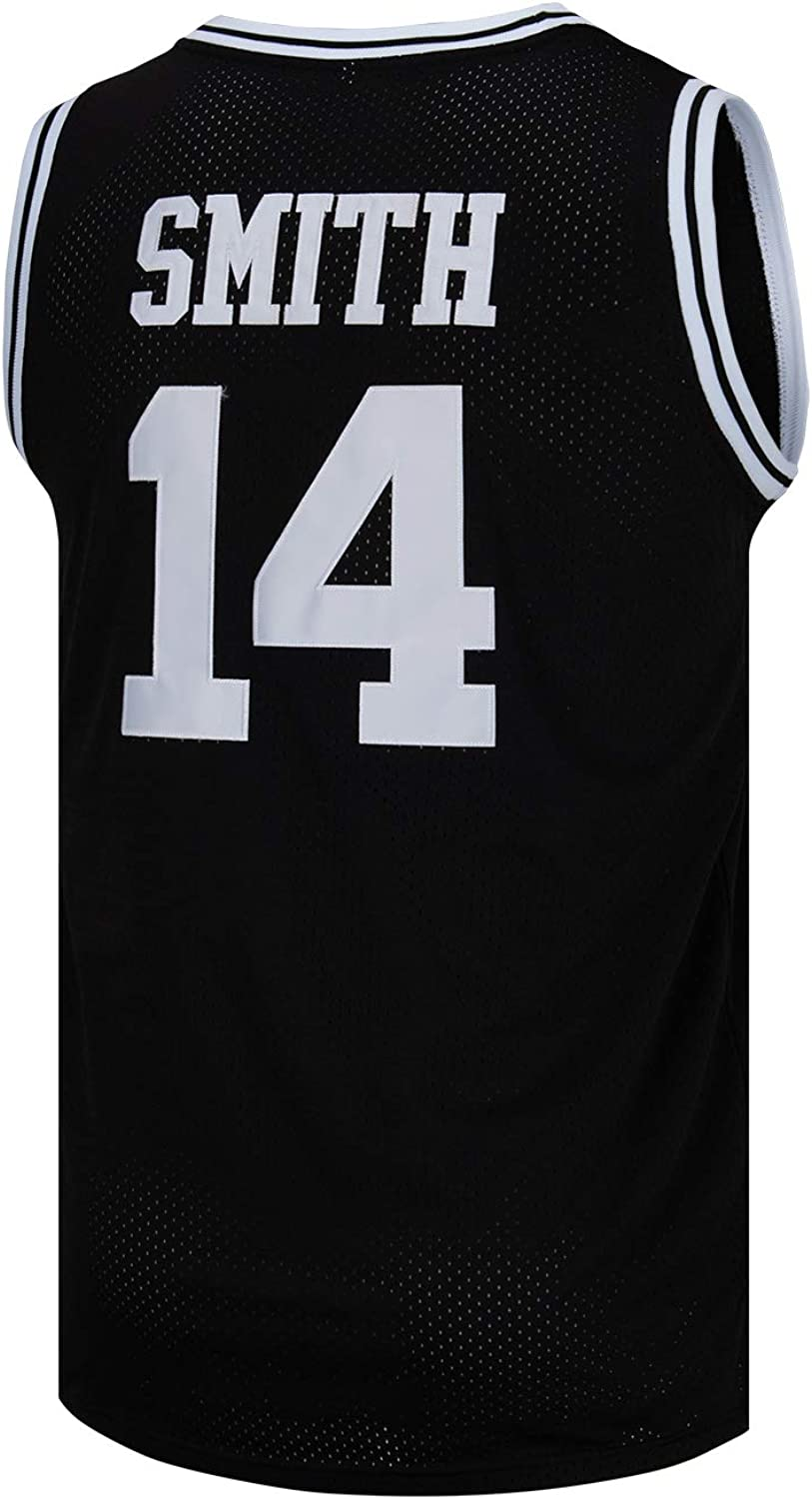 SPPOTY Mens #14 Basketball Jersey 90S Hip Hop Clothing for Party Black/Yellow/Green: Clothing