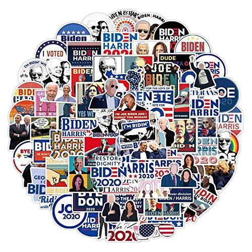 DUOYOU Calcomanías de bandera americana de Pvc de la campaña electoral de Joe Biden Harris de los Estados Unidos, 100 unidades