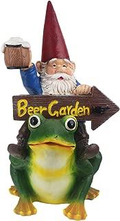 JHB Beer Garden Gnome, Funny Beer Garden Sign, Hand Painted Resin-Perfect for Oktoberfest, Walkways, Gardens, Patios, and Beer Festivals