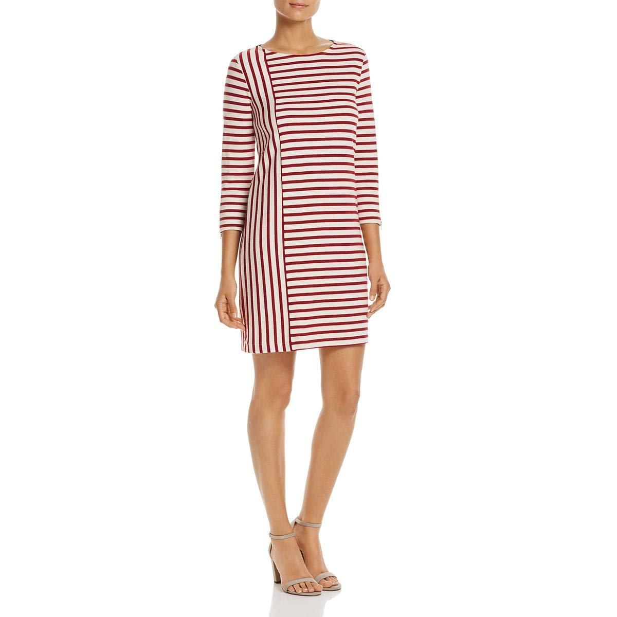 Available at Amazon: Three Dots Women's Stripe Combo Shift Mid Loose Dress