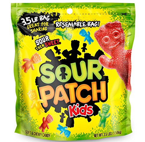Sour Patch Kids Sweet and Sour Gummy Candy (Original, ca. 1,5 kg/3,5 LBS Beutel)