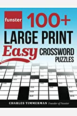Funster 100+ Large Print Easy Crossword Puzzles: Crossword Puzzle Book for Adults Paperback