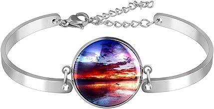 Verstelbare armband unieke Sunset voor vrouwen Roestvrij staal
