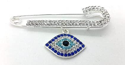 evil eye safety pin